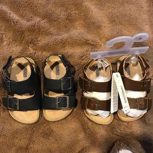 🐵 Gymboree toddler boy sandals (2) size 6 NWOT 🐵